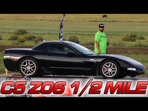 Stock C5 Z06 takes on the 1/2 Mile