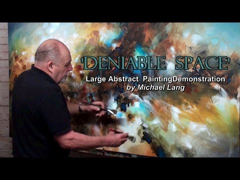Mix Lang Large Abstract Painting Demo. Creating Color with Washes