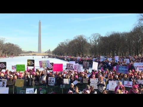 Thousands in Washington join second Women's March against Trump