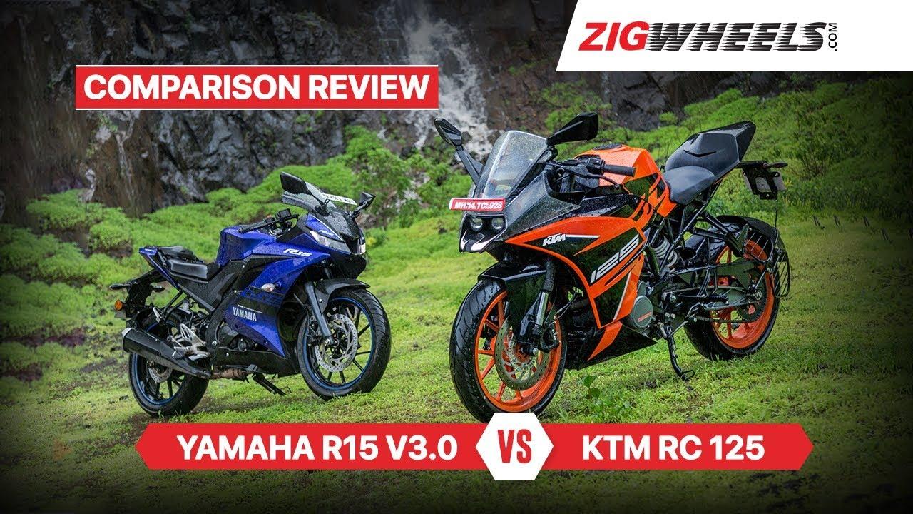 KTM RC 125 vs Yamaha YZF-R15 V3 0 & Comparison Review