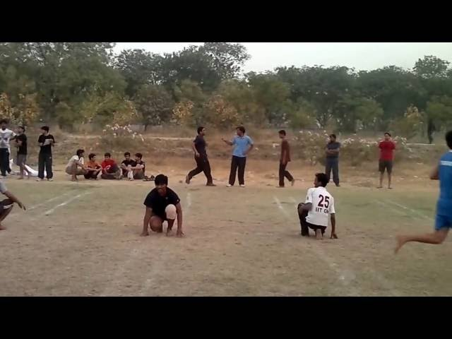 IIT Gandhinagar Intra College Sports Fest 2012-Kho-kho Match between teams Fast & Furious and Flyers Travel Video