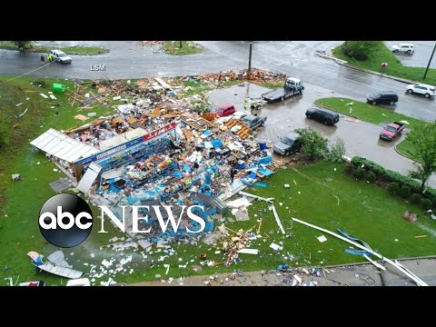 Thumbnail: Heavy winds, tornadoes rip through the South