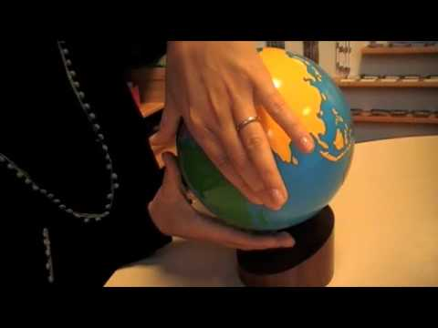 Montesori - Practical Life - Stereognostic Sense - Painted Globe