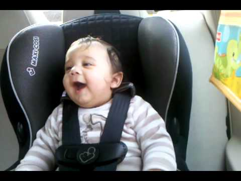 Andrew shah laughing in car seat