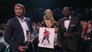 Alex Ovechkin wins the Maurice Rocket Richard Trophy