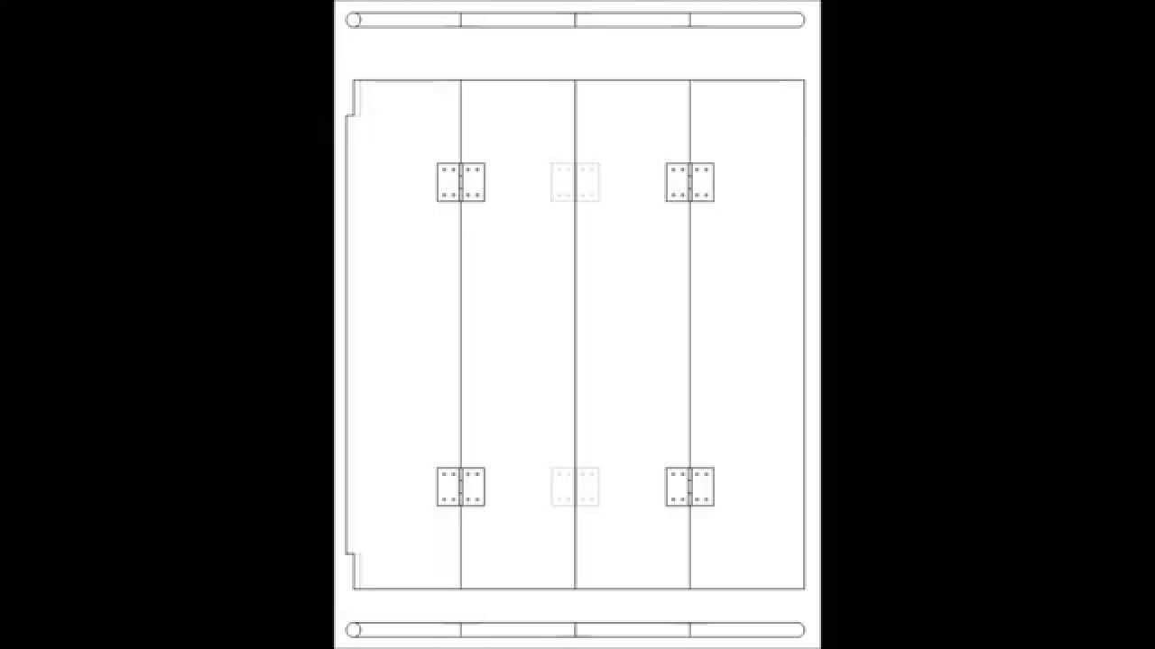 Puerta plegable y abatible de qu consta youtube for Hojas plegables