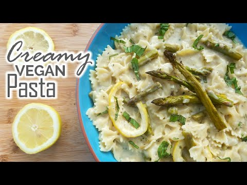 Vegan Pasta | Creamy Asparagus & Lemon – What's For Din'? – Courtney Budzyn – Recipe 59