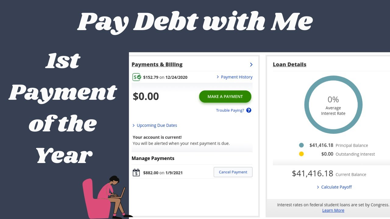 Pay Debt with Me| January 2021-1st Debt Payment of the Year| Debt: $41,416.18