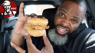 NEW KFC FRIED CHICKEN & DONUTS SANDWICH | SMASH or PASS?