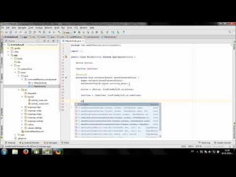 Using StartActivityForResult In Android Studio