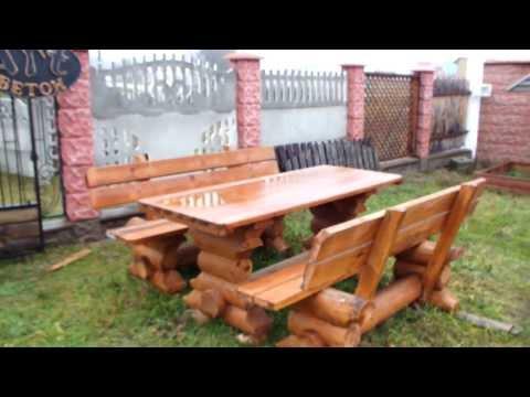 столы, лавки деревянные