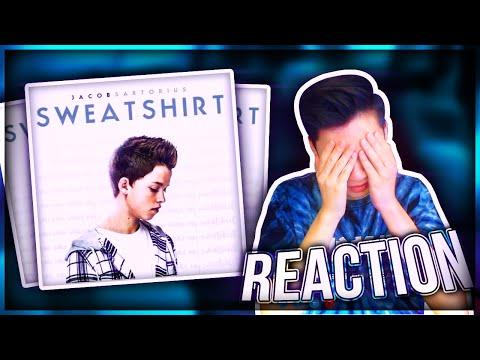 REACTING TO Jacob Sartorius NEW SONG Sweatshirt (Ft.LeafyisHere)