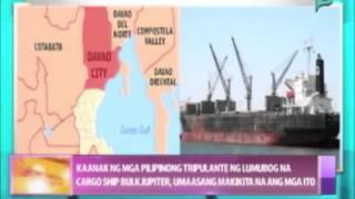 Kaanak ng mga Pinoy tripulante ng lumubog na cargo ship Bulk Jupiter, umaasang makikita na