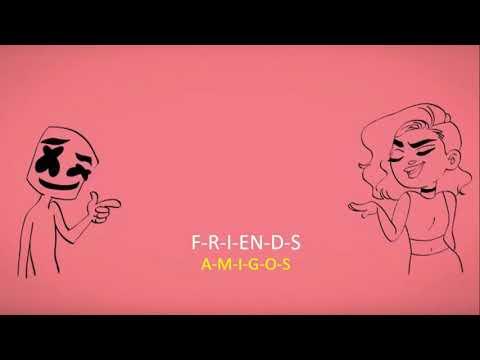 Marshmello & Anne - Marie- Friends ( Lyrics & Sub Español )