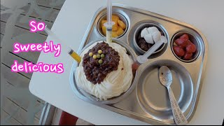 짜장면빙수 Pasta Shaped Icecream : Korean Cartoon Town