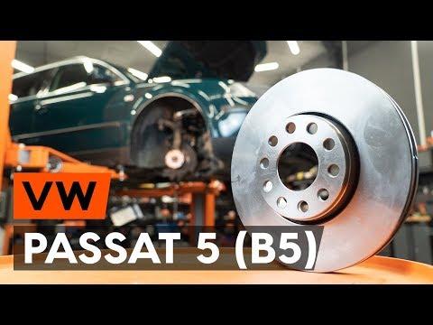 Как заменить передние тормозные диски на VW PASSAT 5 (B5) [ВИДЕОУРОК AUTODOC]
