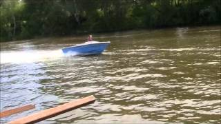Водометный катер с судовым двигателем ВАЗ 2108