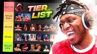 Updated Youtube Boxing Tier List