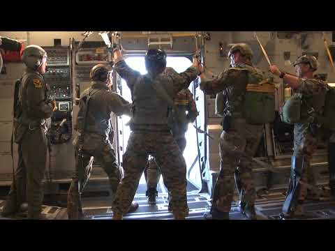 Marine Raiders Free Fall at Southern Strike 2018
