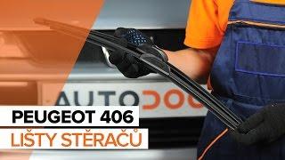 Jak vyměnit lišty předních stěračů na PEUGEOT 406 NÁVOD | AUTODOC