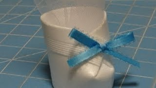 Baby Bootie For Baby Shower Favor Or Decoration Diy