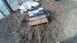 посев редиса самодельной вакуумной сеялкой2018