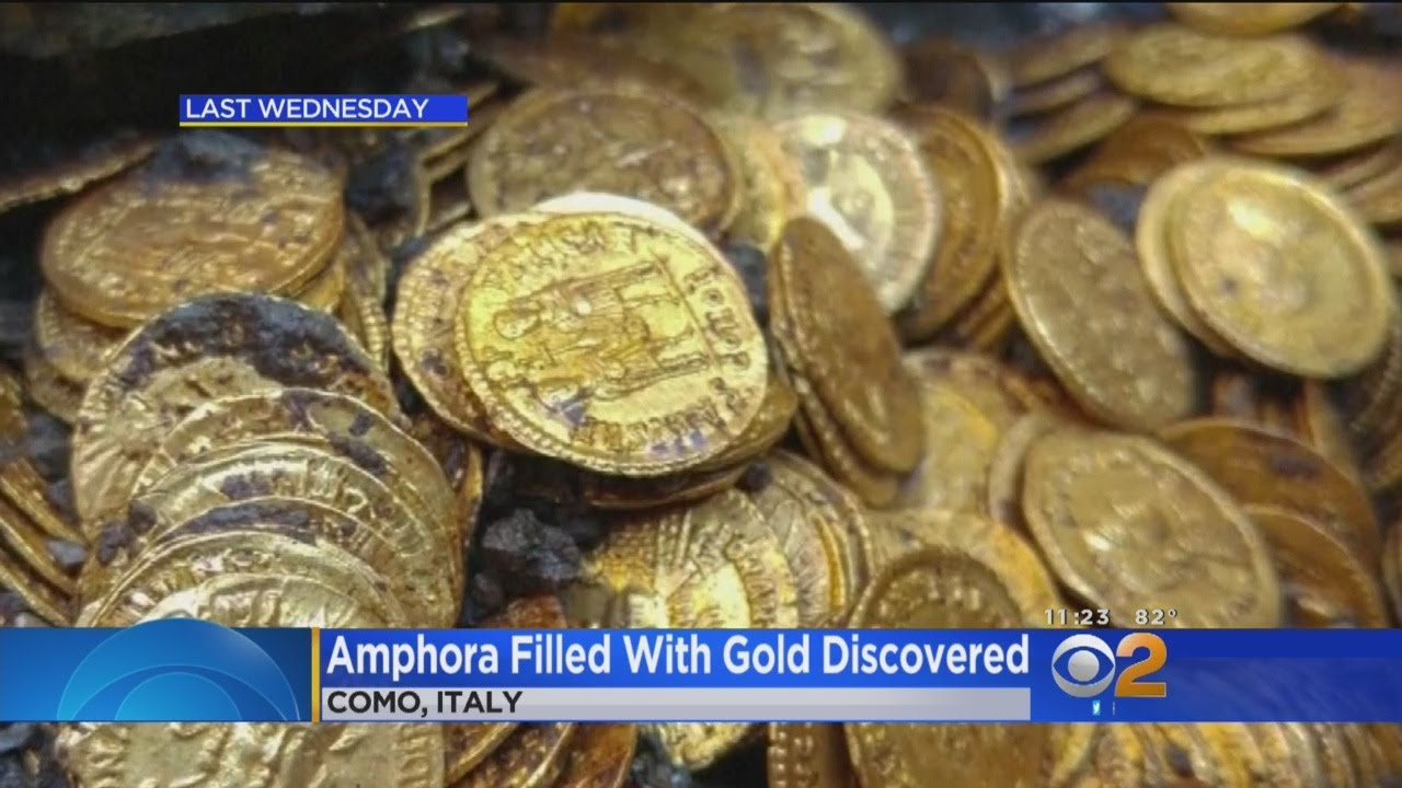 Cache Of Gold Roman Coins Discovered In Old Theatre In Italy