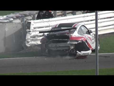 Nasty Porsche Carrera Cup accident (Richard Denny)...