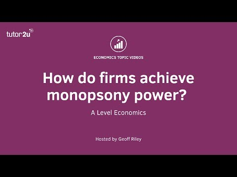 How do firms achieve monopsony power?