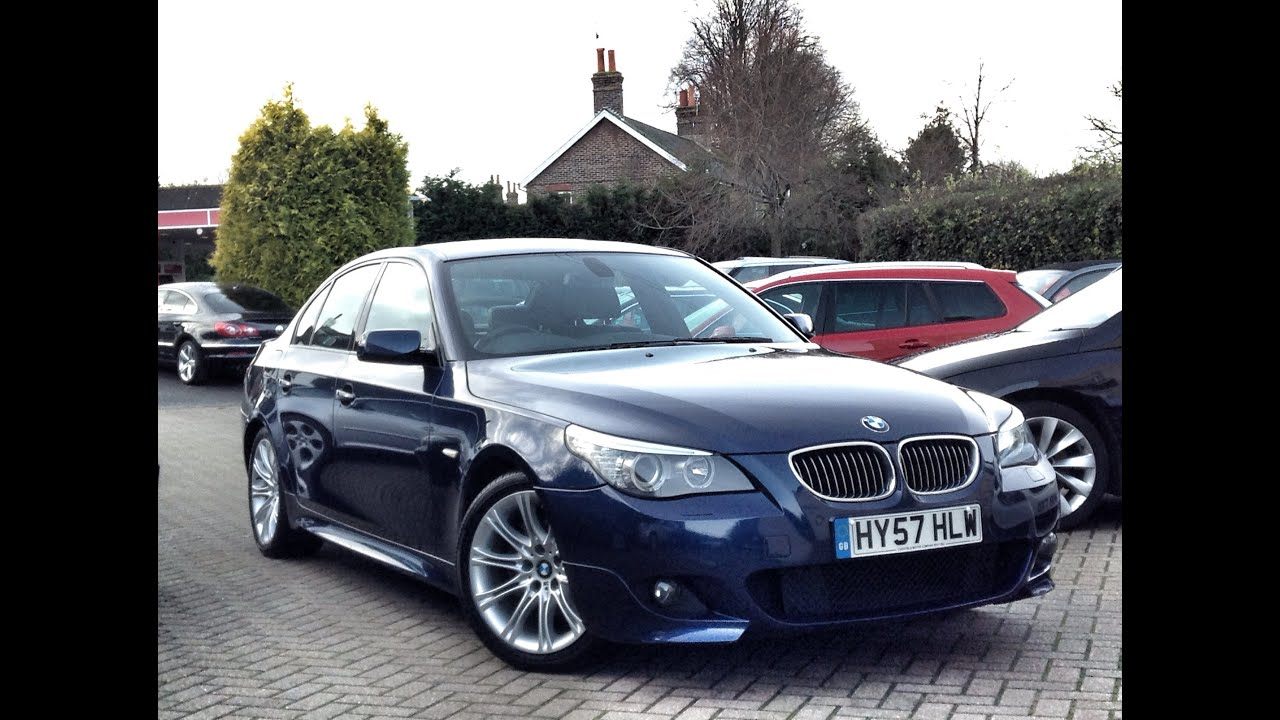 bmw 5 series 3 0td 525d m sport 4dr for sale at cmc cars near brighton sussex youtube. Black Bedroom Furniture Sets. Home Design Ideas