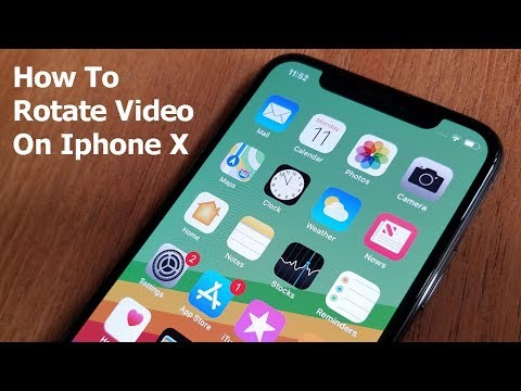 How To Rotate Video On Iphone X Fliptroniks Com Youtube