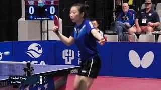 2019 US National Table Tennis Championships - Womens QF - Rachel Yang vs Wu Yue (Highlights)