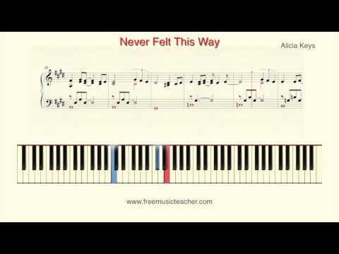 How To Play Piano: Alicia Keys Never Felt This Way Piano Tutorial  Ramin Yousefi