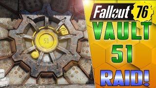 VAULT 51 BUILD!! - RAIDER SIEGE!! - FALLOUT 76 CAMP
