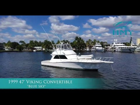 1999 Viking Yachts 47' Convertible BLUE SKY - For Sale With HMY Yachts