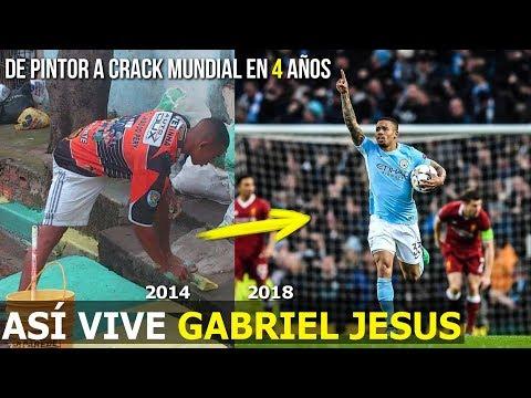 ASÍ ES LA VIDA DE GABRIEL JESUS, PINTABA CALLES EN BRASIL 2014, HOY ES ESTRELLA EN RUSIA 2018