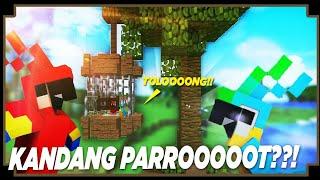 CARA MEMBUAT KANDANG PARROT - Minecraft Indonesia