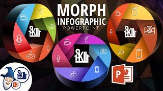 PowerPoint Morph Infographic Tutorial 2018 + Free Template
