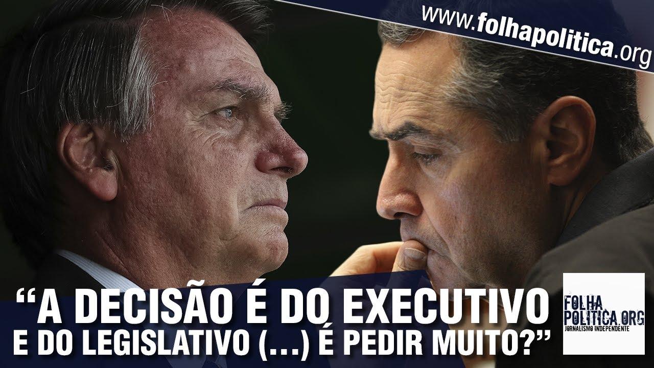 Bolsonaro manda recado para Barroso, do STF e do TSE, defende voto impresso e critica sistema...