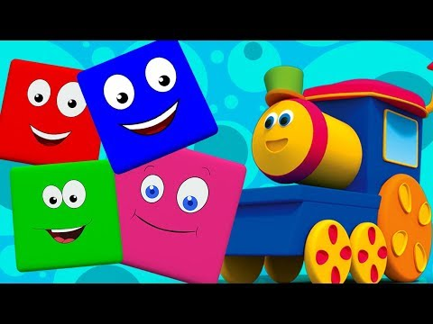bob treno colore corsa.  Imparare i colori.  Colori Canzoni   bob train color ride   Learn colors