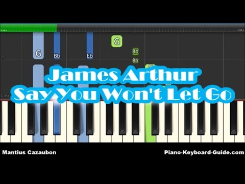 James Arthur Say You Wont Let Go Piano Tutorial Easy Chords