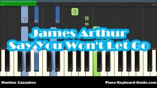 James Arthur - Say You Won't Let Go Piano Tutorial - Easy Chords & Melody