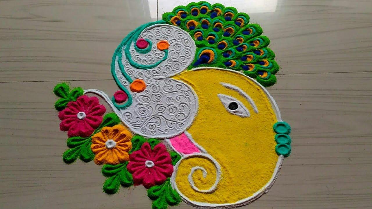 Youtube also ganesh ganpati chathurthi special rangoli design rh
