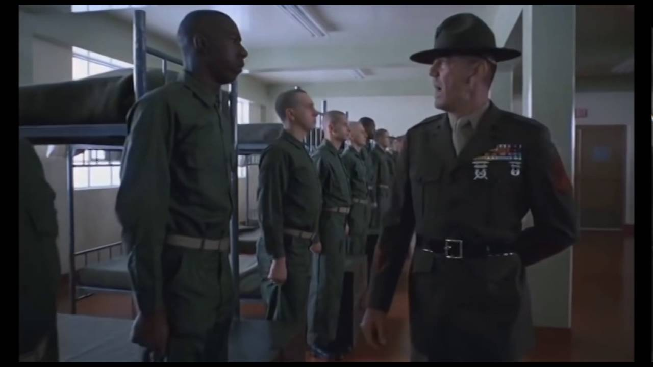 Full Metal Jacket Opening Scene Youtube