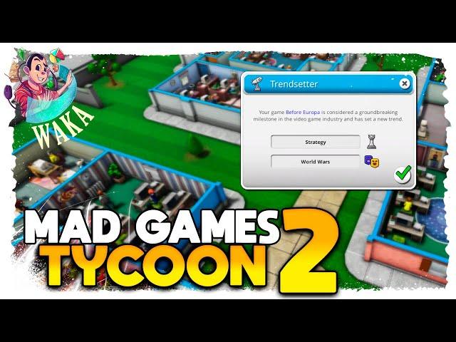 A ESTRATÉGIA QUE MUDOU A TENDÊNCIA | Mad Games Tycoon 2 #15 - Gameplay PT BR