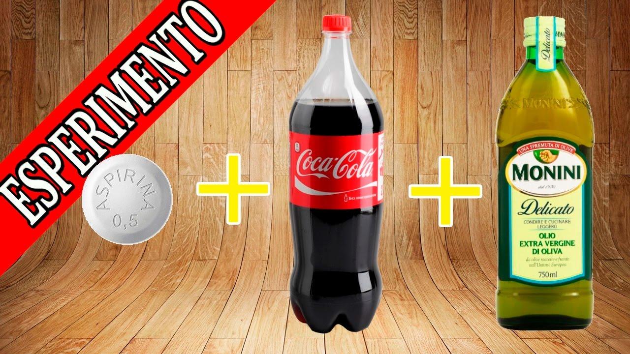 Amato ESPERIMENTI PER BAMBINI DI SCIENZE - coca cola , olio e pasticche MY77