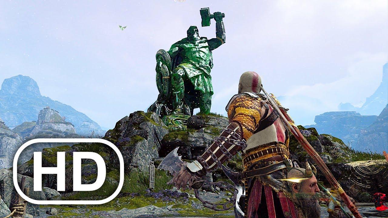 Download Kratos Destroys Thor Legacy Scene 4K ULTRA HD - GOD OF WAR PS5