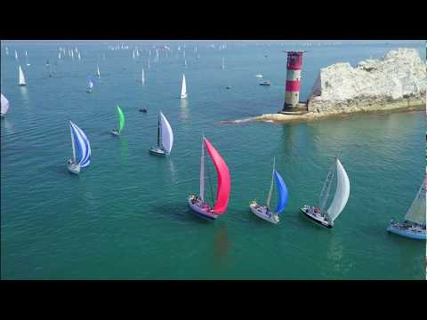 Round The Island Yacht Race 2018 (Cowes - The Needles) - Mavic Pro Drone Views