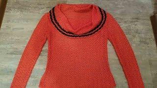 Пуловер с ниспадающим воротником