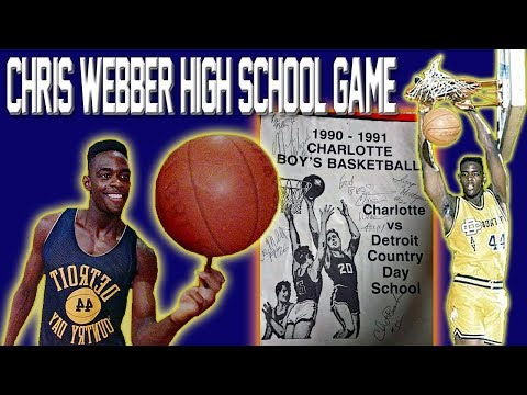 Chris Webber High School Game vs. Charlotte, MI (Eric Menk)
